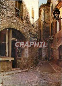Moderne Karte Au soleil de la Cote d'Azur Rue typique St Paul de Vence