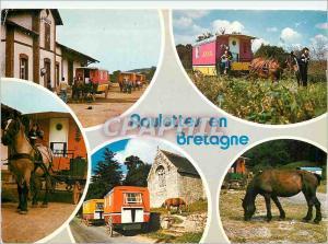 Moderne Karte Couleurs de Bretagne Randonnees de roulottes en Bretagne interieure