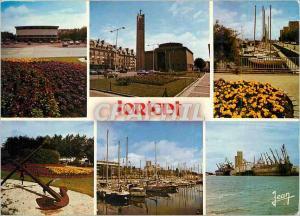 Moderne Karte Lorient Morbihan Le Palais des Congres L'Eglise ND de Victoire