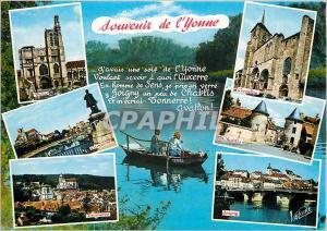 Moderne Karte Souvenir de L'Yonne Sens Avallon Auxerre Chablis Tonnerre Joigny