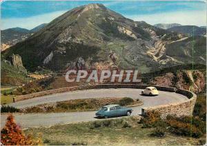Moderne Karte Route Napoleon Alpes de Haute Provence La descente du Col des Lecques sur Castellane