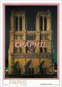 Moderne Karte Paris Notre Dame Facade illuminee de la Cathedrale Notre Dame