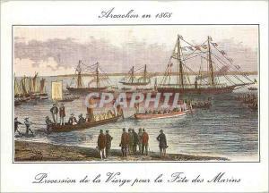 Moderne Karte Arcachon Vieille Gravure d'Arcachon Grand Fete des Marins du Bassin d'Arcachon