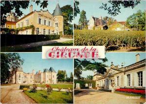 Moderne Karte Chateaux en Gironde Chateau Lafite Chateau d'Issan Chateau de Beychevelle Chateau Lascombe