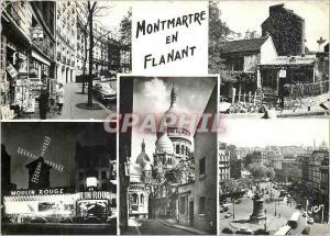 Moderne Karte Paris Arondissement Rue du Chevalier de la Barre Rue Caulaincourt Le Lapin agile Le Moulin Rouge