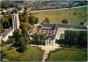 Moderne Karte Abbaye du Bec Hellouin Eure Vue generale aerienne des facades sur la cour de France et la tour S