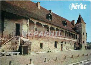 Moderne Karte Nerac d'Albret L et Gar Le Chateau