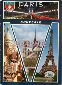 Moderne Karte Paris Les Champs Elyseese la nuit La Place du Tertre et le Sacre Coeur Notre Dame La Tour Eiffel