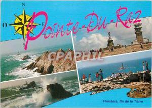 Moderne Karte A l'extremite du Finistere La Pointe du Raz Le phare de la vieille Notre Dame des Naufrages le s