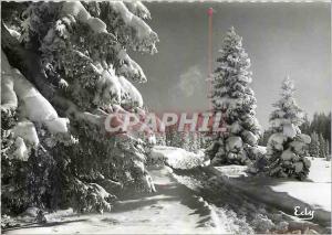 Moderne Karte Image de chez nous en hiver