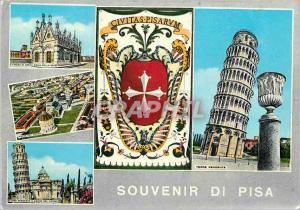 Moderne Karte Souvenir de Pisa