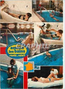 Moderne Karte Amelie les Bains Thermalisme au soleil De gauche a droite Bain simple en baignore Piscine Hommes