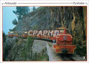 Moderne Karte Les Pyrenees Vallee d'Ossau Artouste Le petit Train vers le lac d'Artouste