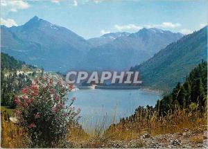 Moderne Karte Aussois Savoie Le Barrage Plan d'Aval La Pointe de Scolette