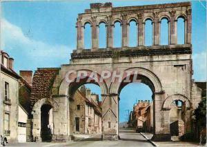 Moderne Karte Autun S et L Porte Romaine dite d'Arroux