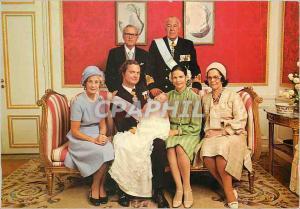 Moderne Karte HM King Carl XVI Gustaf HM Queen Silvia and HRH Princess Victoria HRH Prince Bertil and HRH Prin