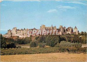 Moderne Karte Cite de Carcassonne Aude Vue generale de la Cite