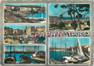 Moderne Karte Saint Tropez Var Souvenir