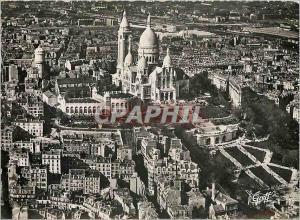 Moderne Karte Paris Vue aerienne La Basilique du Sacre Coeur de Montmartre