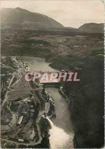 Moderne Karte Vue aerienne sur le Barrage de Genissiat