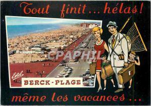 Moderne Karte Berck Plage Pas de Calais Vue sur la plage