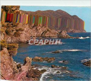 Moderne Karte Lumiere et Beaute de la Cote d'Azur