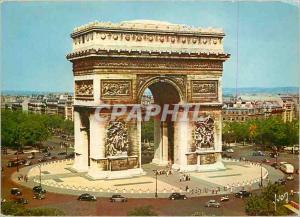 Moderne Karte Couleurs et Lumiere de France Paris Place de l'Etoile et Arc de Triomphe