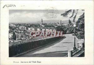 Moderne Karte Firenze Panorama dal Vial Poggi