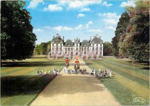 Moderne Karte Cheverny (Loir et cher) Le Chateau Un depart a la Chasse Chiens