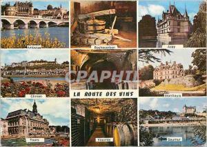 Moderne Karte Le Val de Loire La Route des Vins