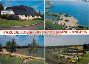 Moderne Karte En Anjou Angers (Maine et Loire) Centre d'accueil centre nautique la plage le camping