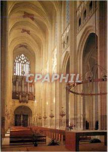 Moderne Karte Nantes (Loire Atlantique) Interieur de la Cathedrale Saint Pierre la Nef