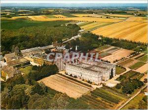Moderne Karte En Brehan Abbaye de Timadeuc Rohan Vue aerienne de l'Abbaye
