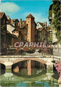 Moderne Karte Dans le Vieil Annecy Pont Bacchus sur le canal le Thiou