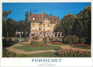 Moderne Karte La Cote d'Amour Pornichet (Loire Atlantique) les jardins et l'Hotel de Ville