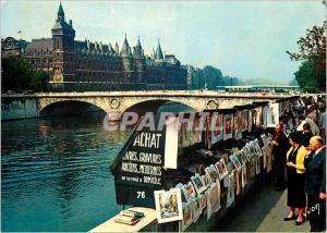 Moderne Karte Paris Les Bouquinistes quai de Gesvres et la Conciergerie