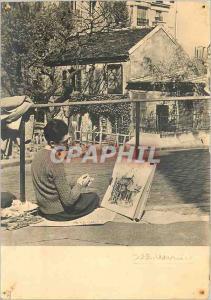 Moderne Karte Paris le Lapin a Montmartre