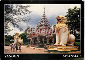 Moderne Karte Yangon Myanmar