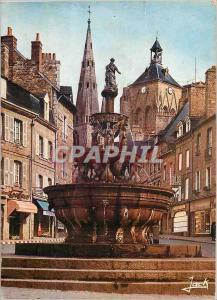 Moderne Karte Guingamp (C du N) la fontaine de la pompe