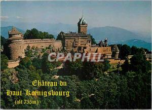 Moderne Karte Le Chateau du Haut Koenigsbourg (alt 755 ) Alsace