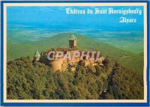 Moderne Karte Le Chateau du Haut Koenigsbourg (alt 755 ) Nid d'aligle dominant la palaine d'Alsace