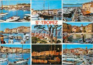 Moderne Karte Souvenir de Saint Tropez Cote varoise