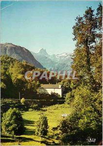 Moderne Karte Les Pyrenee la vallee d'Ossau et le Pic du Midi d'Ossau (alt 2885m)
