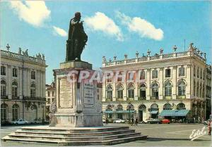 Moderne Karte Nancy (Meurthe et Moselle) La place Stanislas et la Statue de Stanislas Leczinsky