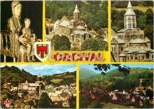 Moderne Karte L'Auvergne Pittoresque Orcival (Puy de Dome) L'Eglise de Roman Auvergnat d'Orcival du XIIe s