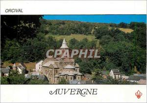 Moderne Karte Orcival (Puy de Dome) L'eglise Romane du XIIe s qui abrite une vierge en majeste de la meme epoq