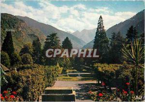 Moderne Karte Luchon La reine des Pyrenees les jardins du Casino et le Port de Venosque
