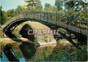 Moderne Karte Aixe sur Vienne (Haute Vienne) Le Pont romain sur l'Aixette