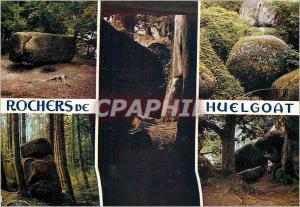 Moderne Karte Rochers legendaire de Huelgoat La Pierre Tremblante le Trou du Diable et le chaos