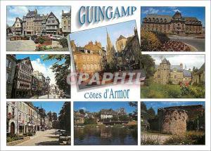Moderne Karte Guingamp (Cotes d'Armor) Les vieilles maisons la fontaine de la Plomee